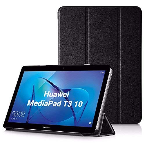 EasyAcc Hülle für Huawei Mediapad T3 10 Hülle, Ultra Schlank Schutzhülle Hülle mit Zwei Einstellbarem Standfunktion Für Huawei MediaPad T3 10 (9,6 Zoll), Schwarz