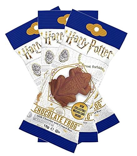 Jelly Belly Harry Potter Schokofrosch 3er Pack (3x 15g) | mit Sammelkarte von berühmten Hexen und Zauberern