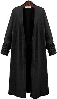 [プラセル] カーディガン ロング 大きめ サイズ 薄手 オールシーズン シンプル レディース M〜6Lサイズ 黒/グレー