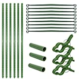 Plant Support Cages,Tomato Garden Cages with Clip,Indoor Pot Outdoor Vegetable Trellis,Plant Climbing Bracket Set for Vertical Climbing Plants,Vegetables,Flowers,Fruits