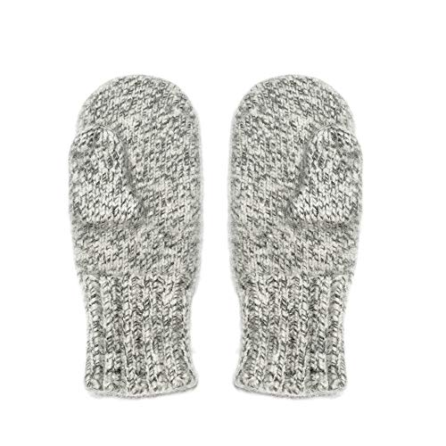 Dachstein Woolwear 4 Ply Extreme Warm 100% Austrian Boiled Wool Alpine Mittens in Natural Grey (8.0)