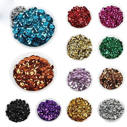 Celadon 6mm 20 g/partij (ongeveer 2000 stks) vlok Rainbow Cup Sequin voor thuis & bruiloft decoratie confetti ZL32-01SL, zwart
