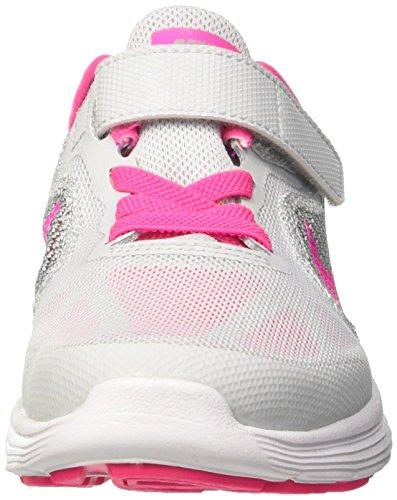 Nike Revolution 3 (PSV), Zapatillas Niños, Blanco (Pr Pltnm/Pnk Blst WLF Gry Wht), 28.5 EU