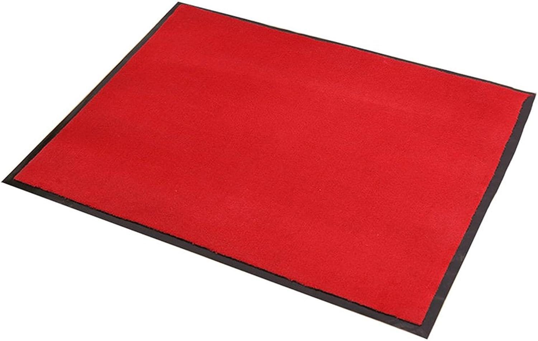 XUERUI Doormats Barrier MAT Door MAT Rubber Backed Medium Runner Barrier MATS Rug (60cm90cm) (color   RED)