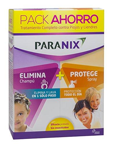 Paranix Pack Champú + Protect. Tratamiento para Piojos y Liendres - Incluye Lendrera - Sin insecticidas - contiene Champú de Tratamiento y Spray Preventivo
