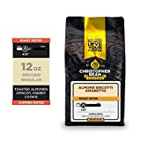 Christopher Bean Coffee - Amaretto Almond Biscotti Flavored Coffee, (Regular Ground) 100% Arabica, No Sugar, No Fats, Made with Non-GMO Flavorings, 12-Ounce Bag of Regular Ground coffee