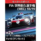 FIA 世界耐久選手権(WEC) 18/19 第2戦 ル・マン24時間レース(フランス) Part3【サンセット】
