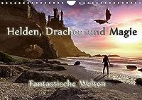 Helden, Drachen und Magie (Wandkalender 2022 DIN A4 quer): 12 wundervolle Fantasybilder, die sie durch das Jahr begleiten. (Monatskalender, 14 Seiten )