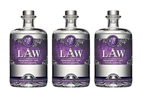 Law Premium Dry Gin Ibiza - 3 x 70cl