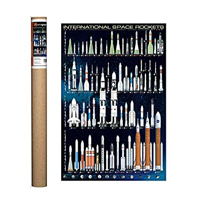 EuroGraphics International Space Rockets Poster, 36 x 24 inch from Eurographics