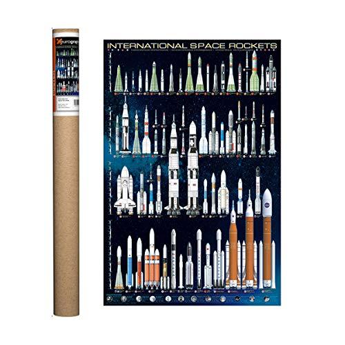 EuroGraphics International Space Rockets Poster, 91,4 x 61 cm