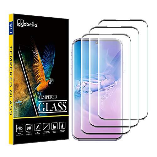 Vetro Temperato Samsung S9 Plus, AKABEILA Compatibile per Galaxy S9 Plus Pellicola Protettiva [3 Pezzi] [Curvo Copertura Totale] HD Anti Graffio Pellicola Anti-bolla [Durezza 9H] Proteggi Schermo,Nero