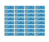 Sunnywall® Namensaufkleber Namen Sticker Aufkleber Sticker 4,8x1,6cm | 60 Stück für Kinder Schule und Kindergarten 38 Hintergründe zur Auswahl (03 Fußball)