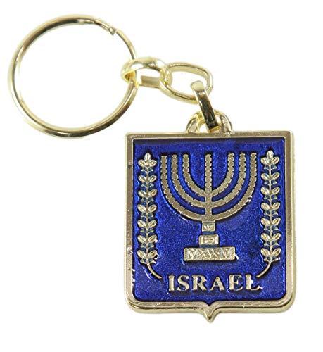 Israel MENORAH Doppelseitiger Schlüsselanhänger (1 Stück) Judentum Anhänger israelisches Geschenk