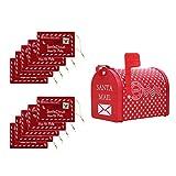 SM SunniMix Decoraciones Navideñas Creative Mail/Letter/Post/Newspaper Box