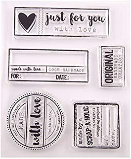 MaGuo Clear Stamps with Love Just for You for Decorative DIY Scrapbooking Seal
