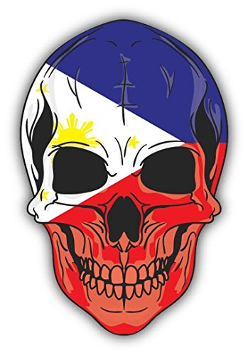Skull Flag Philippines Vinyl Decal Bumper Sticker/Pegatina