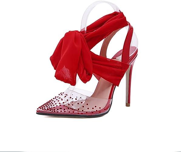 KOKQSX-Talon Haut Aiguille Bout fermé Femme Les Hauts Talons Slim Chaussures à Talons Hauts Boîte de Chaussures