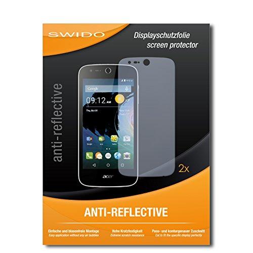 SWIDO Schutzfolie für Acer Liquid Z330 [2 Stück] Anti-Reflex MATT Entspiegelnd, Hoher Festigkeitgrad, Schutz vor Kratzer/Bildschirmschutz, Bildschirmschutzfolie, Panzerglas-Folie