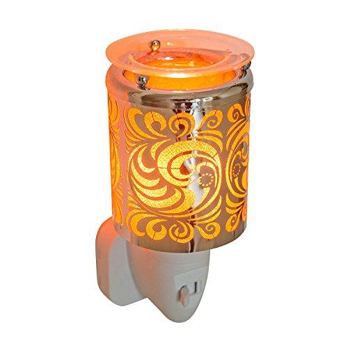 Pajoma eklektisches Nachtlicht – Duftlampe ''Wave'' aus Kunststoff & Metall