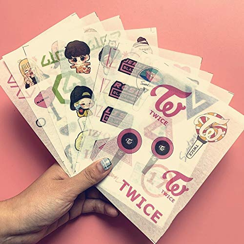 1pcs Kpop stickers Bangtan boys Got7 seventeen blackpink twice DIY cartoon stickers fans collection K-pop supplies