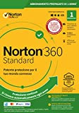 norton 360 standard 2020 | 1 dispositivo | licenza di 1 anno con rinnovo automatico | secure vpn e password manager | pc, mac, tablet e smartphone