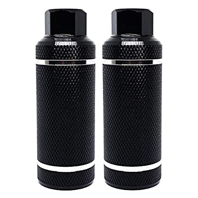 """WADEKING WHW Bike Pegs 4.3"""" Length,Suitable for 14mm Axles, Freestyle BMX Bicycles and Various Bicycles, Durable and Stylish Non-Slip (Black 2)"""