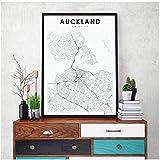 Dekoration Neuseeland Karte Leinwand Kunst Drucke und