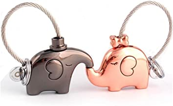 MILESI Original Fantastic Kissing Elephants Couples Keychains Valentine's Gift