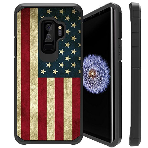 Untouchble | Compatible with S9, Samsung Galaxy S9 Flag Case [Shock Bumper Case] Slim Heavy Duty Cover with Dual Layer Protection - Vintage American Flag