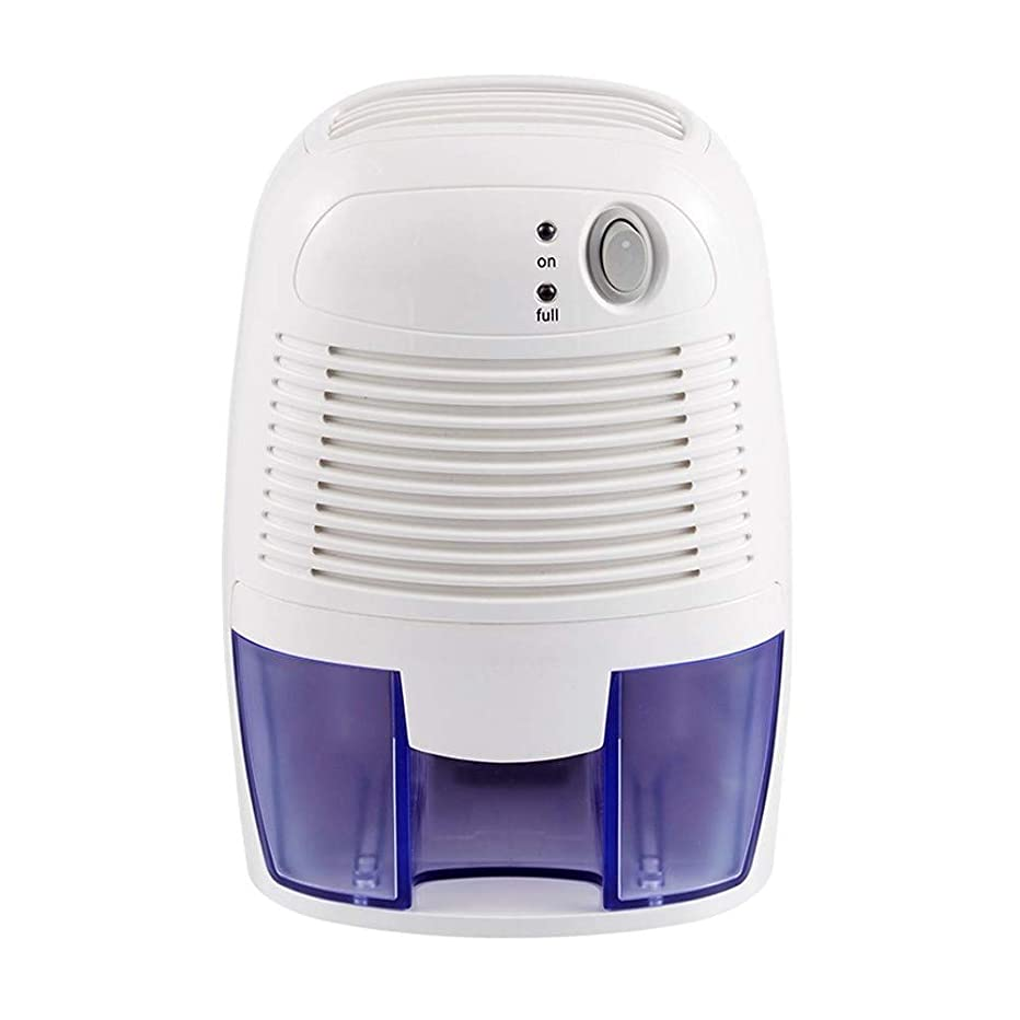 Wish Tech Mini Air Dehumidifier,500ml Electric Small Room Ultra-Quiet Dehumidifier for Damp Air,Compact and Portable for Bathroom Kitchen Bedroom Basement,Auto Bucket Full Shut-Off,White