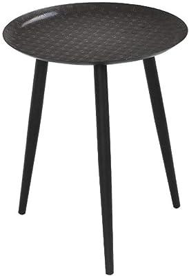 2 étagères/Pliables Spetebo Table dappoint en métal Noir 50 ...