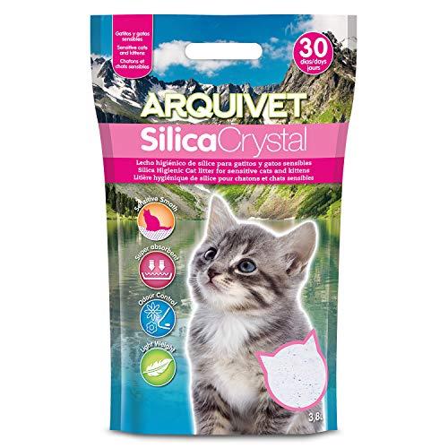 Arquivet arena gato Silica Crystal para gatitos 3,8 L