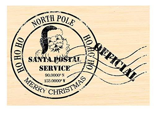 P125 Santa Claus Postmark - North Pole Latitude Rubber Stamp HO HO HO