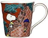 「 PEANUTS(ピーナッツ) 」 スヌーピー 九谷焼 マグカップ 赤絵柄 SN362-11