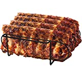 Sorbus Non-Stick Rib Rack – Porcelain Coated Steel Roasting Stand – Holds 4 Rib Racks for...