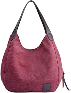 Wultia - Bags for Women 2019 Women's Canvas Handbags Vintage High Quality Female Hobos Single Shoulder Bags Bolsa Feminina Purple