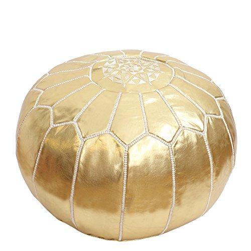 Baba Souk Moroccan Pouf - Gold Metallic