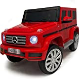 Ride On Toys - 12V Battery Ride On Car with Remote Control – Americas Toys Electric Car for Kids with Open Doors, Leather Seat, 3 Point Seat Belt, MP3 Music, Compatible with Mercedes-Benz Red
