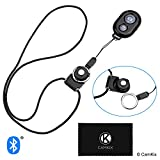 CamKix Camera Shutter Remote Control With Bluetooth® Wireless Technology - Black - Lanyard