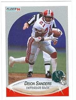 Deion Sanders football card 1990 Fleer #382 Atlanta Falcons Rookie Season