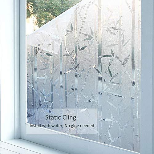 LMKJ Película de Ventana de Vinilo Opaco de privacidad, Adhesivo de Vidrio no Adhesivo Esmerilado Autoadhesivo electrostático, película de decoración del hogar A88 50x100cm