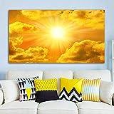 Leinwanddruck Abstrakte, Himmel Wolken Sonne Bilder Im Querformat Gedruckt Auf Leinwand Wand Art Poster Leinwand Gemälde Für Wohnzimmer Schlafzimmer Haus Modernen Gemälden, 50Cmx100Cm