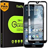 [3-Pack] KOSPH for Nokia 4.2 Tempered Glass Screen Protector, 9H 2.5D Arc Edge Glass Film with Oleophobic Coating, Anti Scratch/Impact Absorption/High Clarity (Max Coverage, Black)
