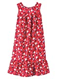 AmeriMark Womens Breezy Casual Sundress Beach Coverup Sleeveless with Side Pocket Red Floral XL