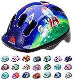 Casco Bicicleta Bebe Helmet Bici Ciclismo para Niño - Cascos para Infantil Bici Helmet para Patinete Ciclismo Montaña BMX Carretera Skate Patines monopatines MV6-2 (XS(44-48cm), Cosmic Rocket)