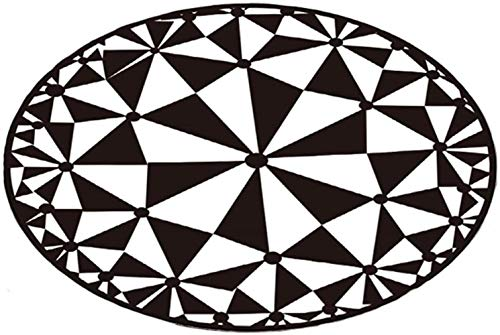Sculptures Carpet Nordic Fashion European Style Black and White Flower Pattern Living Room Coffee Table Carpet Bedroom Mattress Computer Chair Cushion,180X180CM,Size:60X60CM (Size : 160X160CM)