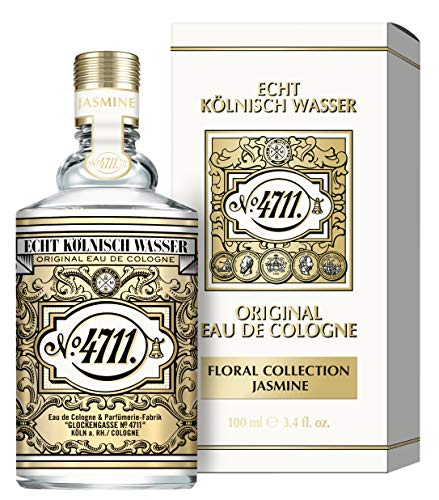 4711® Echt Kölnisch Wasser I Floral Collection - JASMIN - Eau de Cologne - florale Neuinterpretation der Ikone - sinnlich – anmutig – betörend I 100ml Natural Spray Vaporisateur