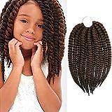 12 Inch AU-THEN-TIC 2X Jumbo Senegalese Twist Crochet Braid Hair Havana Twist Crochet Hair Havana Mambo Twist Crochet Braids Hair Extensions (1-PACK, M1B/30)