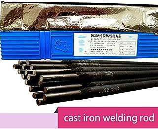 Kamas pure nickel cast iron welding rod, cast iron nickel iron electrode, nickel-copper cast iron welding rod 2.5mm 3.2mm 4.0mm - (Diameter: 4.0mm, Material: model Z308)